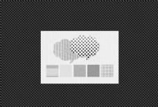 格子和点状背景填充图案