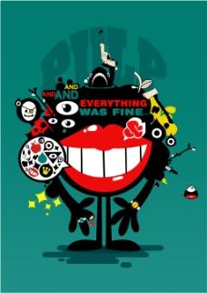 嘻哈夸张海报封面流行