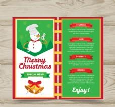 创意雪人圣诞节菜单设计