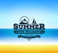 夏季度假海报矢量素材