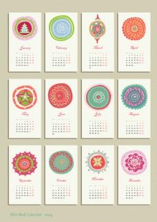 创意2014日历模版