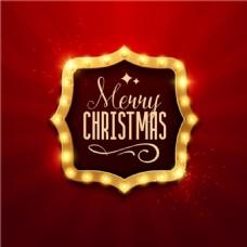 辉煌圣诞框高清圣诞节矢量素材