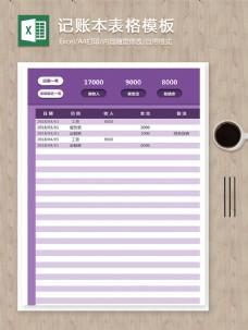 个人每月正常收支结余记录明细记账本