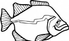 鱼 水中动物 矢量素材 eps格式_0032