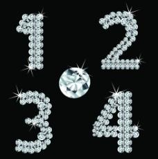 钻石数字矢量素材图片