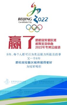 祝贺北京申办冬奥会成功微信画面图片