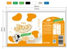 酸牛奶标签图片