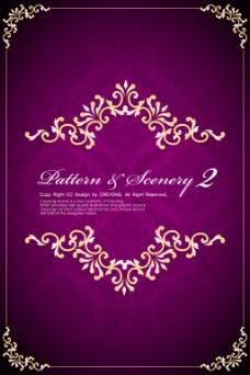 紫色欧美边框餐牌