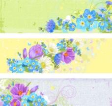 复古花卉横幅图片