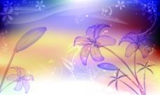 百合花背景墙