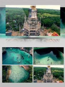 普吉岛海边航拍旅游景点