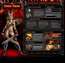 红色性感游戏网站图片