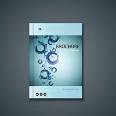 创意蓝色手绘水中汽泡科技封面背景