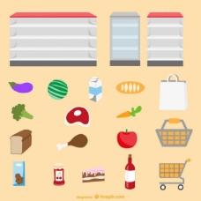超市图形元素