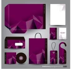 紫色立体图形VI系统
