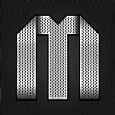 金属字M设计