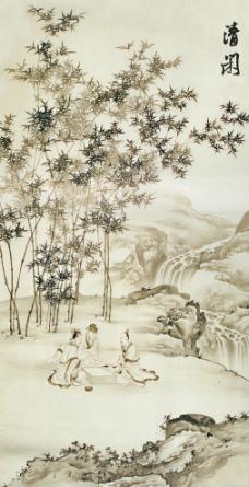 山水国画图片