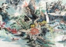 张晓辉中国画山水画图片
