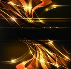 金色动感线条炫酷背景