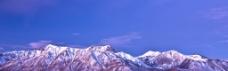 雪山淘宝海报背景图片