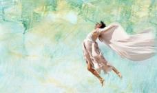 艺术背景 飞舞的女人