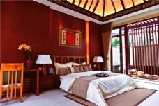欧式卧室壁画装修效果图