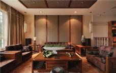 现代清新典雅客厅室内装修效果图