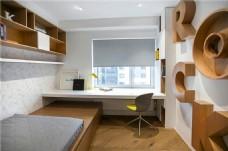 现代时尚卧室褐色立体花纹装饰室内装修图