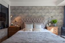 简约卧室床铺装修效果图