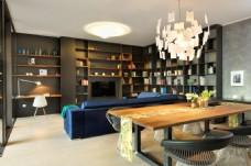 中式客厅长方形茶几装修效果图