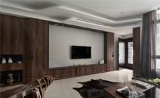 室内客厅中式复古装修效果图