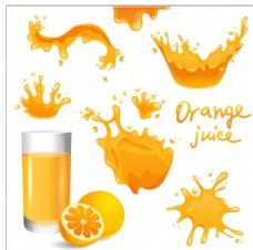 飞溅橙汁图片