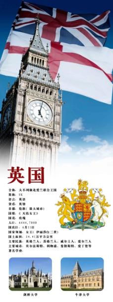 英国旅游展板