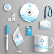 蓝色VI设计图片