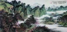 溪山松云图片