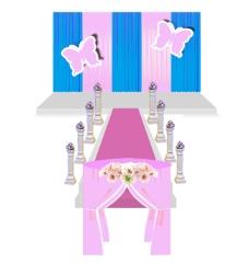 婚礼仪式区蓝粉色