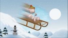 雪地卡通动画