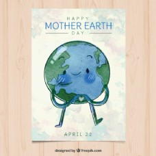 手绘地球日手册