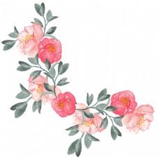 茂密盛开花卉透明装饰素材