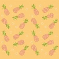 菠萝背景装饰图案