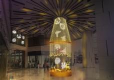 圣诞灯光柱子效果图