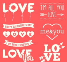 情人节love标签图片