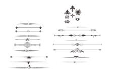 铁艺花边欧式素材矢量分割线花纹线古典