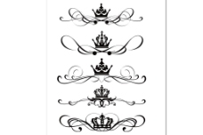 欧式花纹花边皇冠矢量素材长花纹藤蔓古典