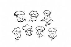 厨师男厨师大厨烹饪餐饮人物卡通矢量素材