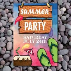 夏日派对的海报