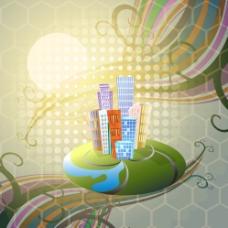 城市建筑 建筑剪影图片