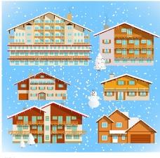 冬季房屋图片
