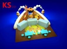 甜品区展示模型