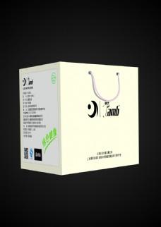 原创包装设计 外包装 手拎袋 清爽风